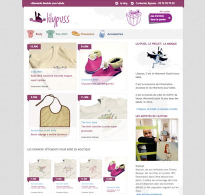 Lilypuss - Vêtements illustrés pour bébés
