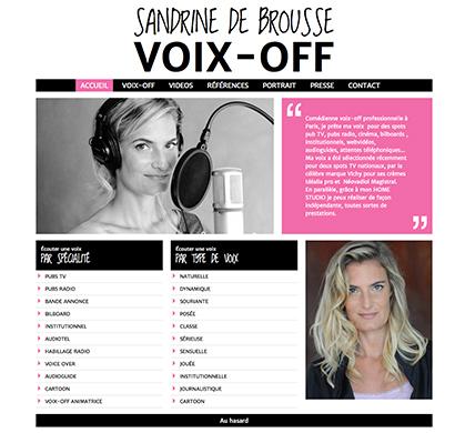 Sandrine de Brousse Voix Off