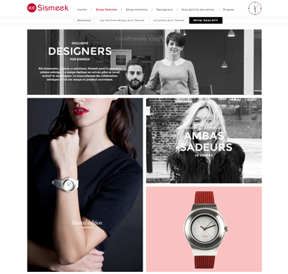 Montres design Sismeek